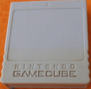 Graue Memory Card Gamecube