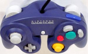 Blauer Gamecube Controller von Oben