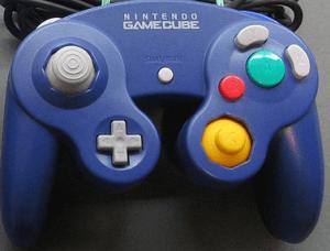 gamecube controller blau